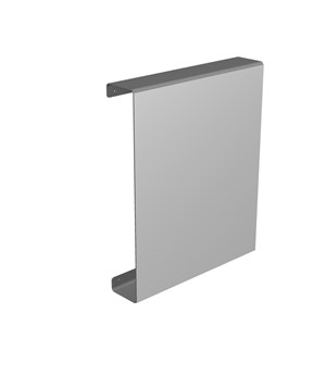 Mirror with wall container and lateral opening