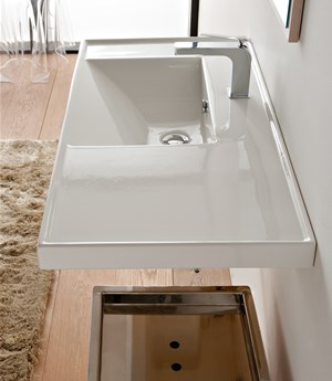 Washbasin 92x47 shelf SX