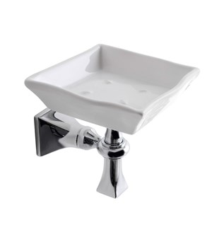 Wall mounted soap dish