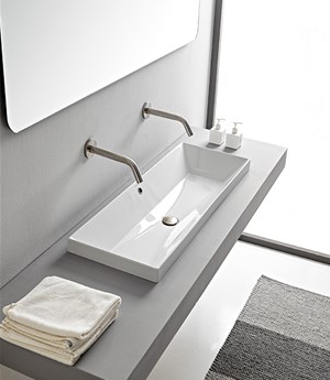 Built-in washbasin 100 x 36 Cm