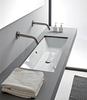 Under-top washbasin 45 x 36 Cm