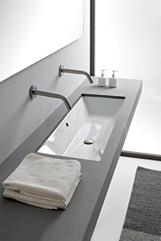 Under-top washbasin 100 x 36 Cm
