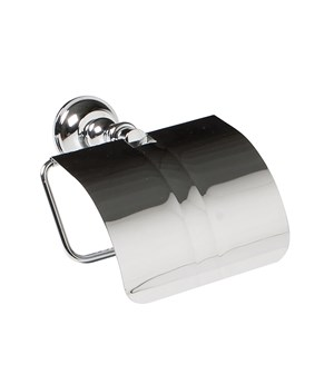 Wall mounted toilet roll holder with cover