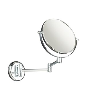 Wall-mounted jointed magnifying mirror
