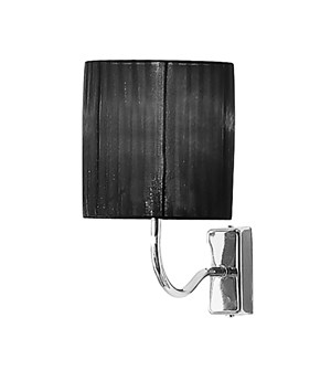 Wall light with black shade