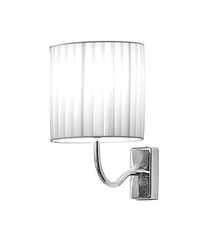Wall light with white shade