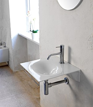 Wall-mounted washbasin 46 x 46 cm