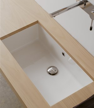 Under-top washbasin Miky 50