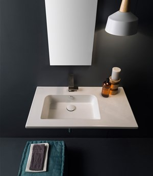Wall-mounted washbasin 82,5 x 47 Cm