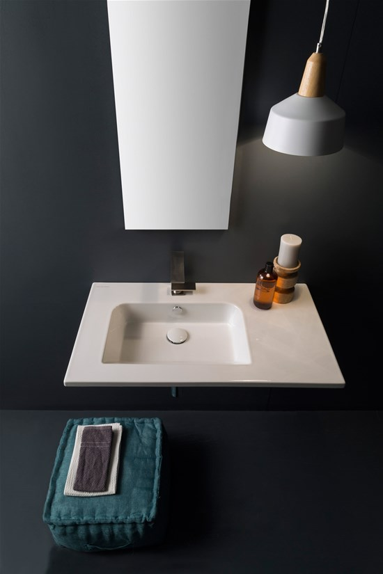 Wall Mounted Washbasin : Wash basins Etra Wall-mounted washbasin 82,5 x 47 Cm
