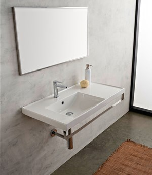 Washbasin 92x47 shelf DX